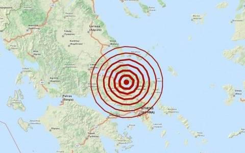 Землетрясение 5,1 баллов возле Халкиды