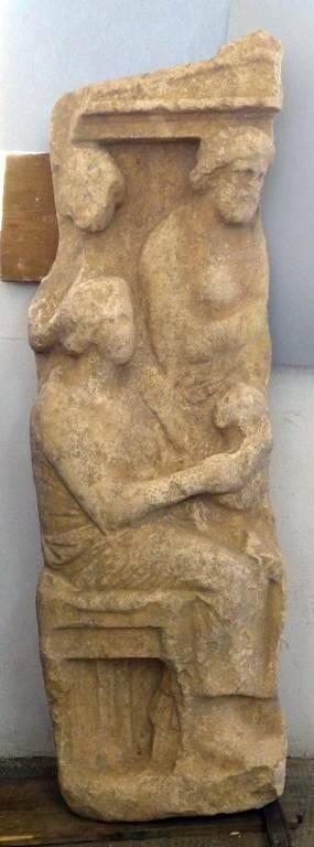 Τμήμα επιτύμβιας στήλης βρέθηκε στον Κεραμεικό (Pics)