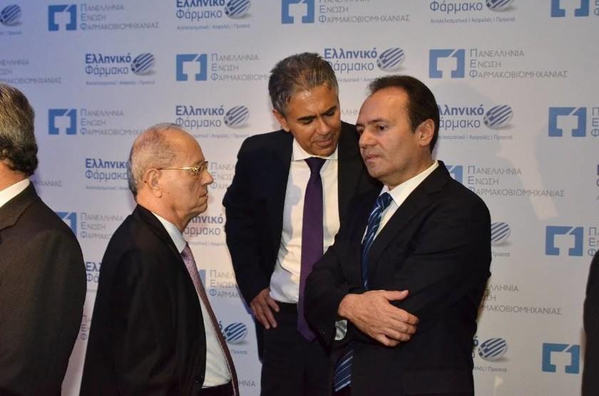 Ο κ. Θανάσης Γιαννακόπουλος, ο κ. Κωνσταντίνος Φρουζής και ο κ. Θεόδωρος Τρύφων