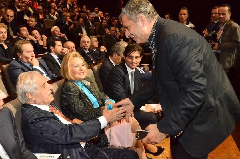 Ο κ. Π. Γιαννακόπουλος, η κα Δ. Γιαννακοπούλου, ο κ. Δ. Γιαννακόπουλος και ο κ. Γιώργος Πατούλης