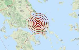 Σεισμός 4,1 Ρίχτερ βορειοδυτικά της Χαλκίδας