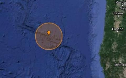 Σεισμός 5,4R στις ακτές του Όρεγκον