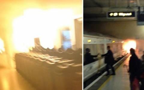 Αναστάτωση από πυρκαγιά στο μετρό του Λονδίνου