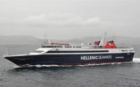 Μηχανική βλάβη στο πλοίο «Άρτεμις»