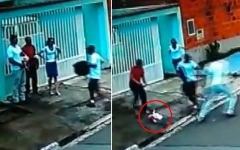 Αστυνομικός πέταξε το μωρό του για να αφοπλίσει ληστή!