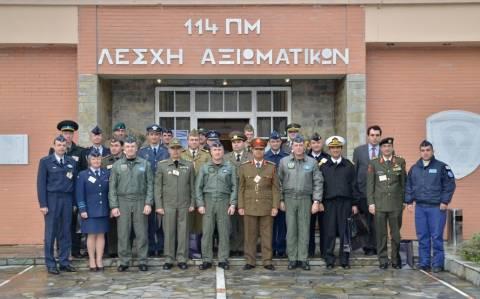 Επίσκεψη Ακολούθων Άμυνας στην 114ΠΜ