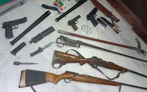 Χανιά: Είχαν μετατρέψει τα σπίτια τους σε οπλοστάσια