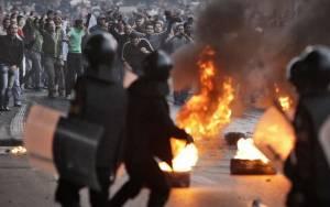 Επεισόδια στην πορεία διαμαρτυρίας για την αθώωση Μουμπάρακ