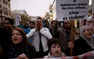 Ολοκληρώθηκε η συγκέντρωση υπέρ των Σύρων στο Σύνταγμα
