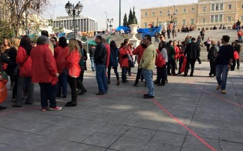 Εκδήλωση κατά του AIDS στο Σύνταγμα