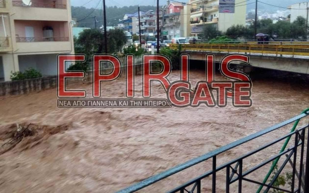 Πλημμύρες στη Θεσπρωτία λόγω της κακοκαιρίας (Pics)