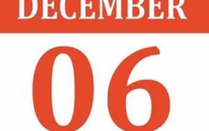 6 και 7 Δεκεμβρίου 2014: Πιθανές ακυρώσεις εκδηλώσεων