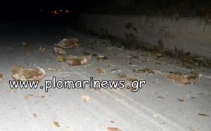 Ζημιές από το σεισμό στη Μυτιλήνη