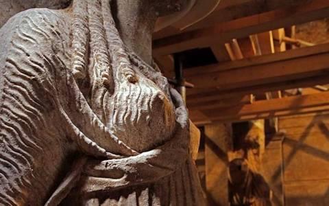 Αμφίπολη - Η έγχρωμη αναπαράσταση της «Πύλης των Καρυάτιδων»