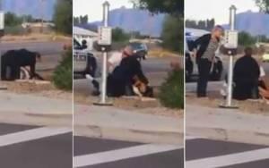 Κορίτσι εκλιπαρεί αστυνομικούς: Δεν μπορώ να αναπνεύσω!