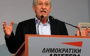 Κουβέλης: Οι βουλευτές της ΔΗΜΑΡ δεν θα ψηφίσουν ΠτΔ