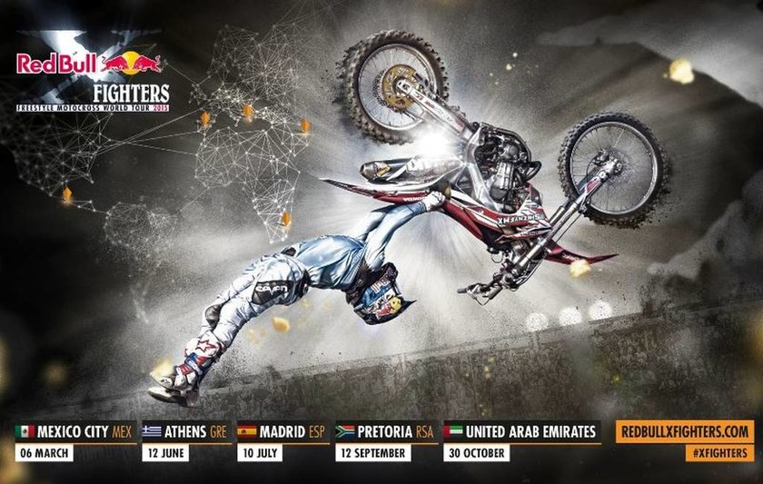 Freestyle Motocross: Τo Red Bull X-Fighters στην Αθήνα