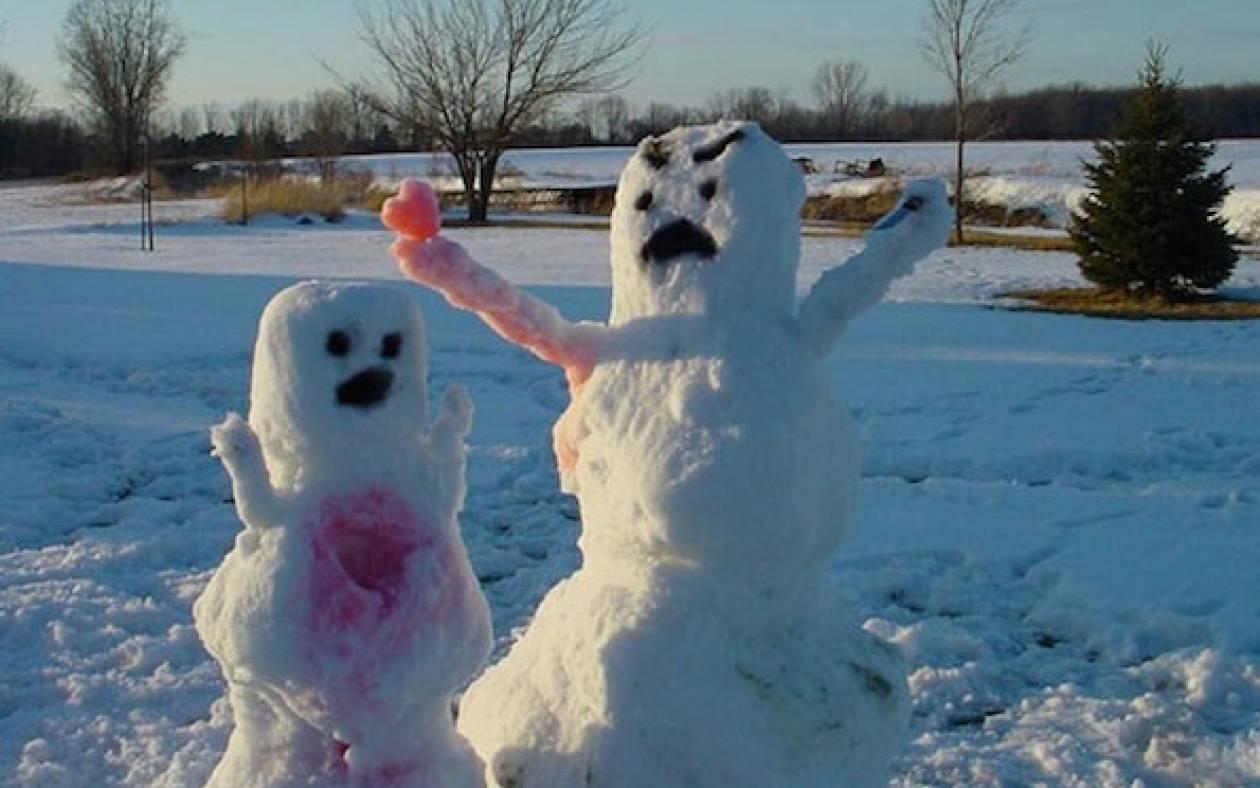Όταν οι χιονάνθρωποι συναντούν τις καλλιτεχνικές… ανησυχίες!