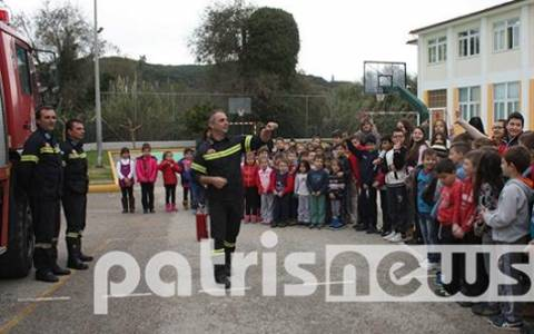 Πύργος: Οι πυροσβέστες ενημέρωσαν τους μαθητές