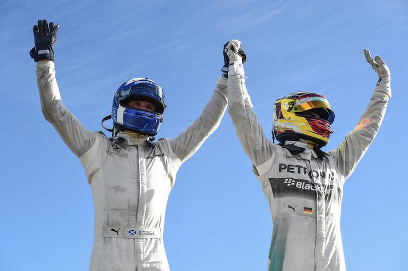 Ο David Coulthard και ο αναπληρωματικός οδηγός της Mercedes, Pascal Wehrlein