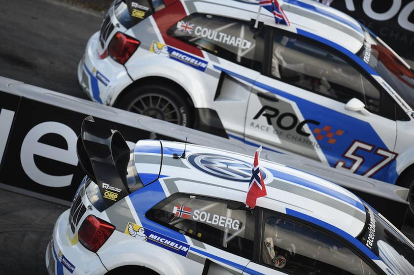 Ο David Coulthard κερδισε τον P. Solberg ακόμη και με το αυτοκίνητο Autocross