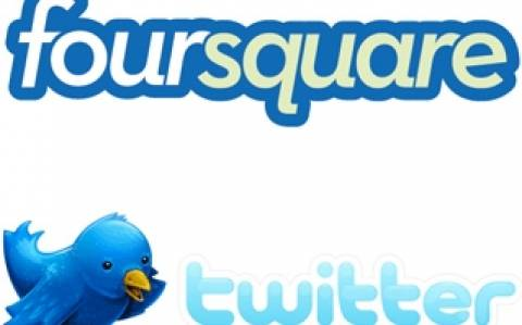 Twitter και Foursquare εις σάρκαν μία