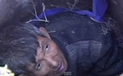 Κίνα: Επιχείρηση διάσωσης άνδρα από πηγάδι (video)
