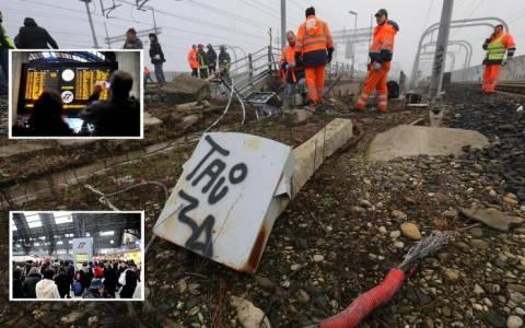 Πυρκαγιά προκαλεί έμφραγμα στα τρένα στη Μπολόνια (pics)