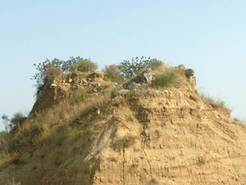 Κορυφή του λόφου Καστά στην Μεσολακκιά