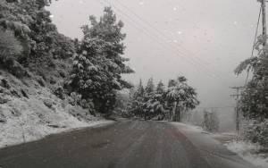 Καιρός: Ισχυρή χιονόπτωση στη Λέσβο (Pics)