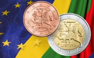 Η Λιθουανία έγινε η 19η χώρα που μπήκε στο ευρώ