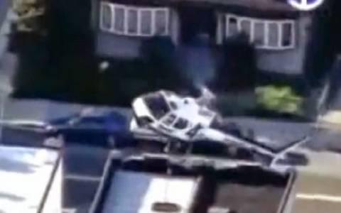 Ελικόπτερο του WNBC-TV έπεσε εν ώρα ρεπορτάζ (vid)