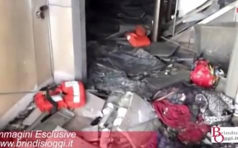 Νόρμαν Ατλάντικ: Εικόνες καταστροφής από το κατάστρωμα του πλοίου