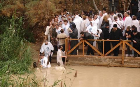 Ιορδάνης ποταμός: Αποστολή στον τόπο βάπτισης του Θεανθρώπου (pics+vids)