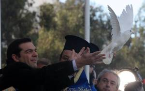 Εκλογές 2015 - Επίσκεψη Τσίπρα στο Δημοτικό Θέατρο Πειραιά