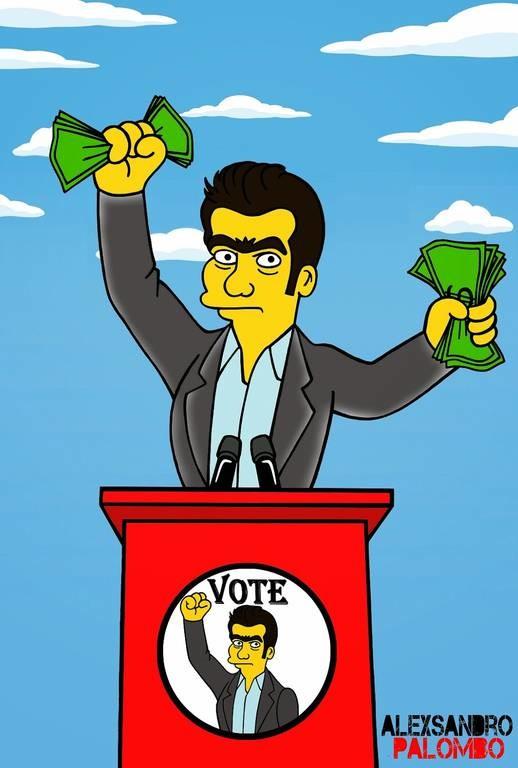 Ο σκιτσογράφος των Simpsons σχεδιάζει τον Τσίπρα (photos)