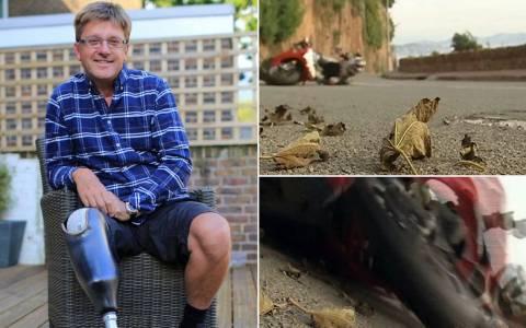 Κάμεραμαν κατέγραψε το ατύχημα από το οποίο έχασε το πόδι του!