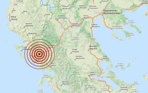 Σεισμός 3,4 Ρίχτερ μεταξύ Ιωάννινων και Ηγουμενίτσας