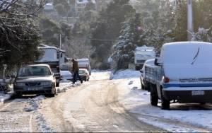 Κρήτη: Ισχυρές χιονοπτώσεις στο Λασίθι