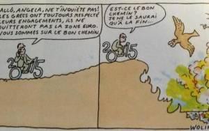 Charlie Hebdo: Για την Ελλάδα το τελευταίο σκίτσο του δολοφονημένου σκιτσογράφου