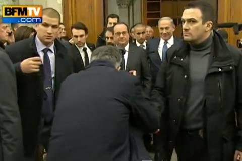 Γαλλία: Επευφημίες και χειροκροτήματα για Ολάντ – Νετανιάχου (video)