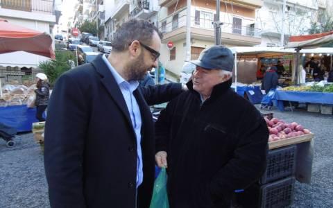 Εκλογές 2015 - Σε λαϊκή στο Χατζηκυριάκειο ο Γιώργος Χρηστοφορίδης