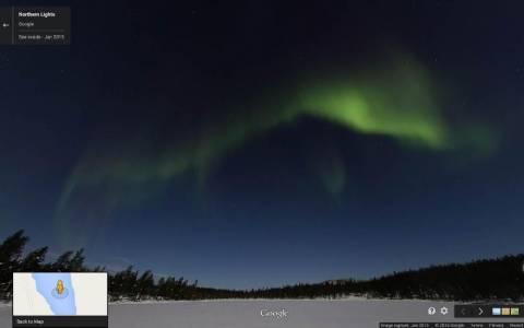 Το Βόρειο Σέλας στους χάρτες της Google