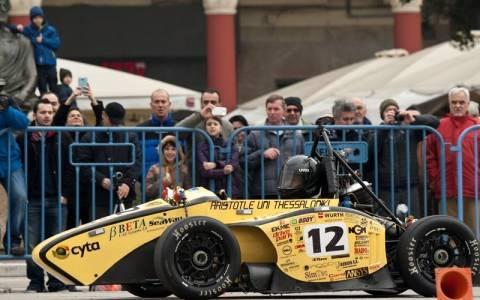 Aristotle Racing Team : Επίδειξη στην πλατεία Αριστοτέλους