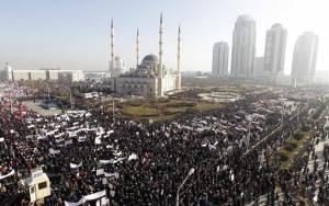 Τσετσενία: Πορεία κατά της Charlie Hebdo
