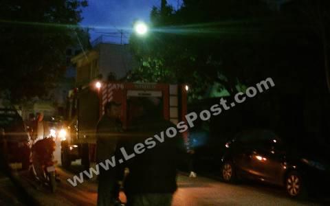 Μυτιλήνη: Πυρκαγιά σε 2 κατοικίες (Pics&Vid)