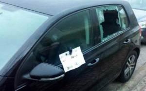 Επίθεση σε αυτοκίνητο βουλευτή του ΣΥΡΙΖΑ (Pic)