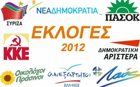 Αποτελέσματα εκλογών: Ο χάρτης των διπλών εθνικών εκλογών του 2012