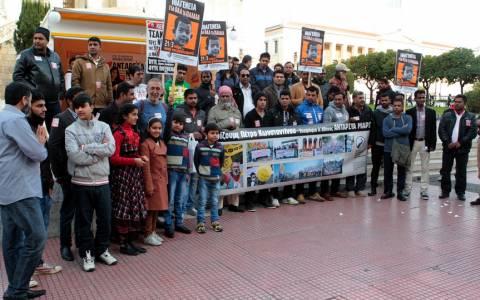 Αντιρατσιστική διαμαρτυρία μεταναστών στην Αθήνα