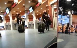 Καναδάς: Έχασε το πλοίο και την έπιασε... υστερία! (video)